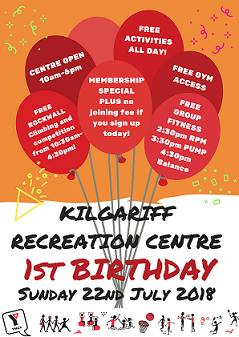 Kilgariff Recreation Centre 1st Birthday